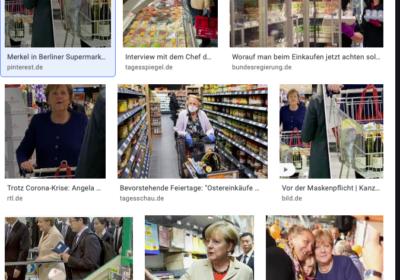 Merkel geht Einkaufen im Lockdown