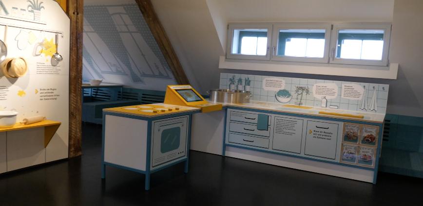 Lernküche im Kindermuseum Berlin-Lichtenrade, Screenshot aus Video vom Kindermuseum.
